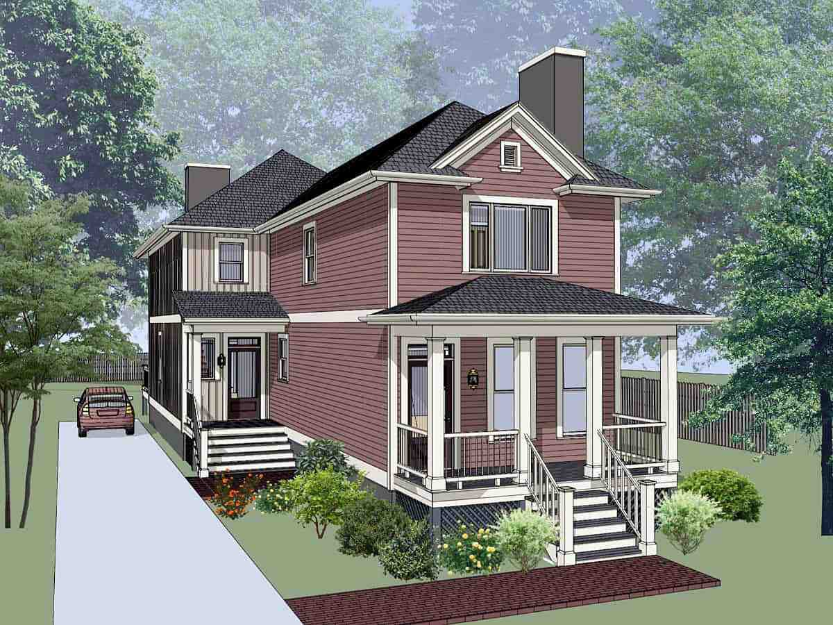 Multi-Family Plan 72792 with 5 Beds, 5 Baths Elevation