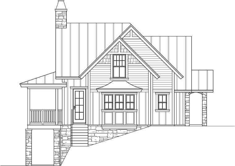 Craftsman, Traditional House Plan 73609 with 3 Beds, 4 Baths Picture 1