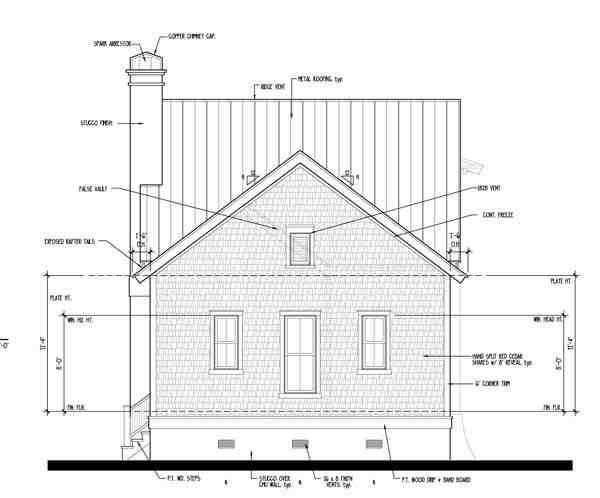 Historic, Southern House Plan 73709 with 4 Beds, 4 Baths Rear Elevation