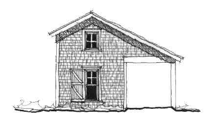 Historic 2 Car Garage Plan 73776 Elevation