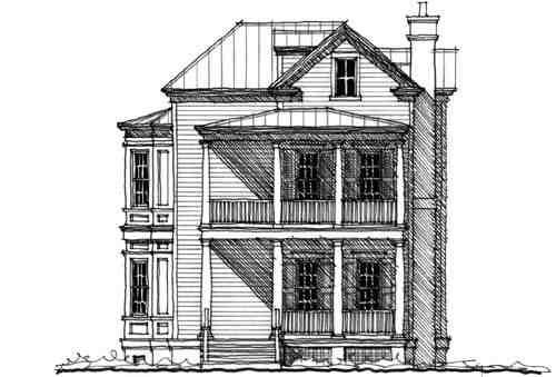 Historic, Traditional House Plan 73830 with 4 Beds, 4 Baths Picture 2