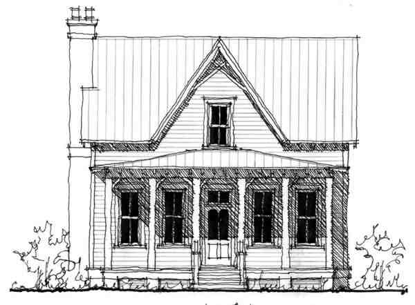 Country, Historic House Plan 73843 with 4 Beds, 4 Baths Elevation