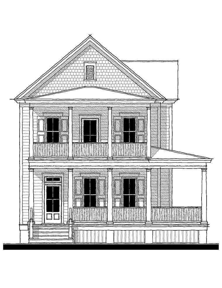 Colonial, Southern, Traditional House Plan 73940 with 3 Beds, 3 Baths Picture 1