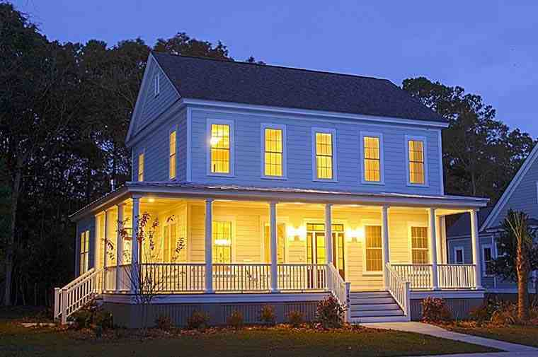 Colonial, Country, Farmhouse, Southern House Plan 73943 with 3 Beds, 3 Baths Elevation