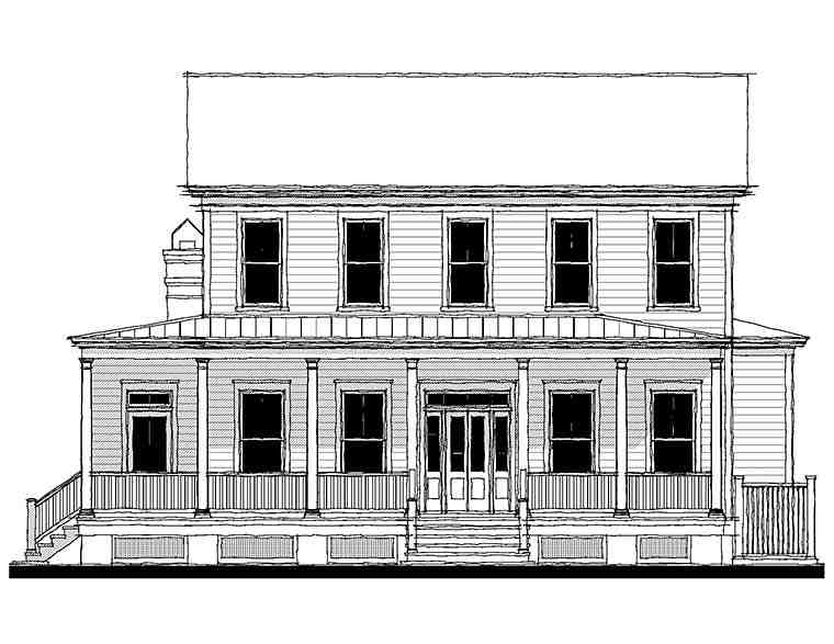 Colonial, Country, Farmhouse, Southern House Plan 73943 with 3 Beds, 3 Baths Picture 1