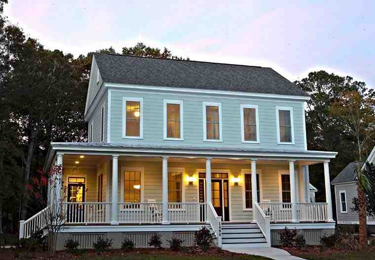 Colonial, Country, Farmhouse, Southern House Plan 73943 with 3 Beds, 3 Baths Picture 2