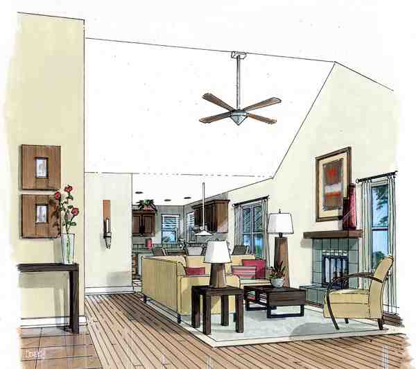 Country, Ranch, Traditional House Plan 74003 with 3 Beds, 2 Baths Picture 1