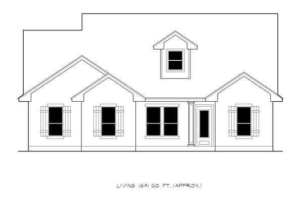 Ranch, Southwest, Traditional House Plan 74508 with 4 Beds, 3 Baths, 2 Car Garage Picture 2