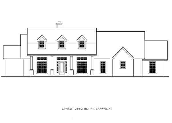 Country, Ranch, Southern House Plan 74551 with 4 Beds, 4 Baths, 3 Car Garage Picture 2