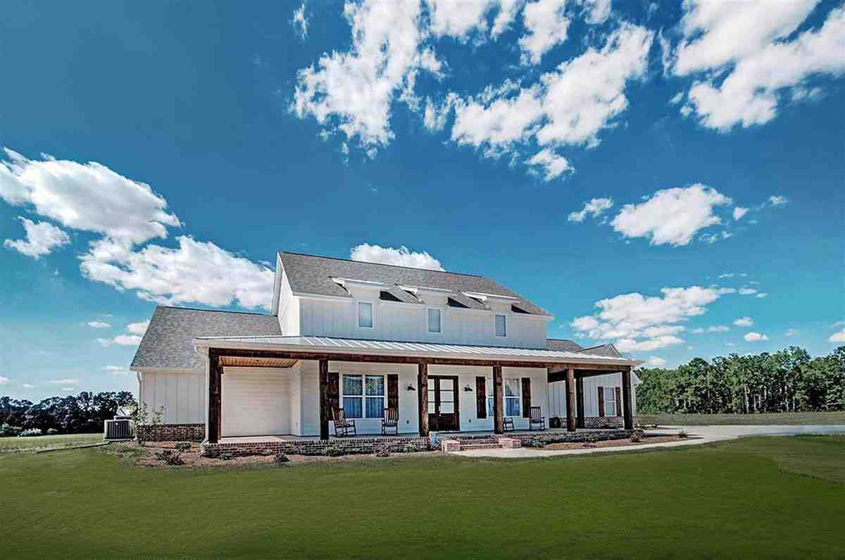 Country, Farmhouse, French Country House Plan 74635 with 5 Beds, 4 Baths, 3 Car Garage Elevation