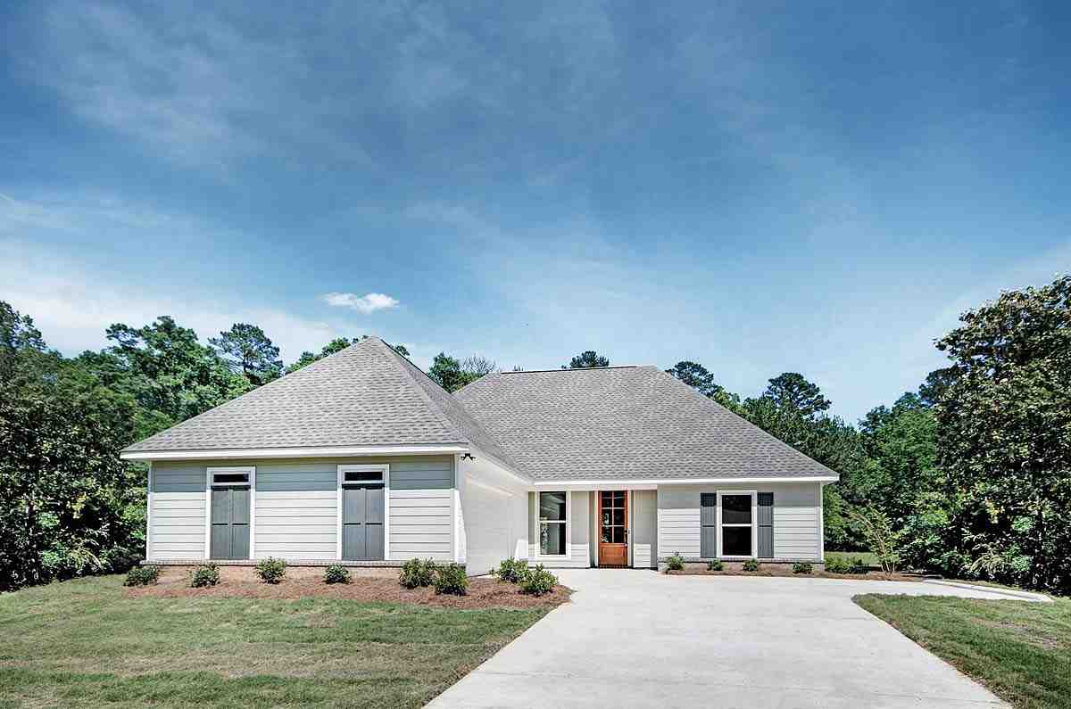 Ranch, Traditional House Plan 74651 with 3 Beds, 2 Baths, 2 Car Garage Elevation