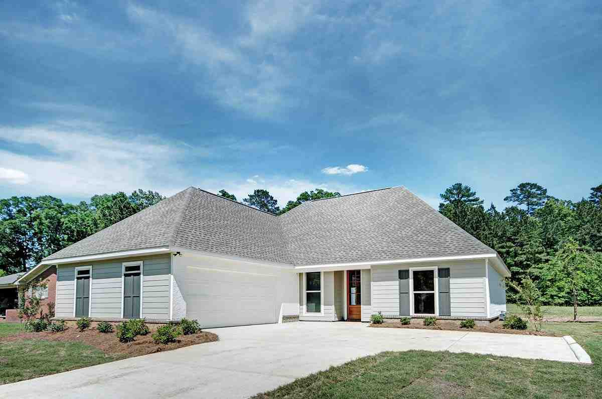 Ranch, Traditional House Plan 74651 with 3 Beds, 2 Baths, 2 Car Garage Picture 1