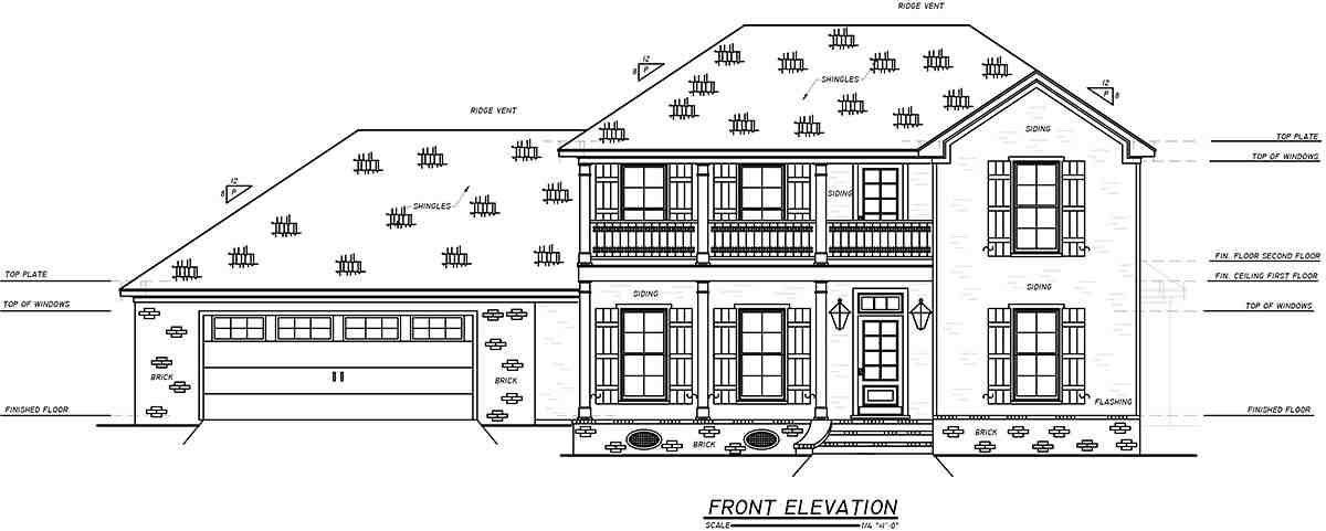 Historic, Plantation, Southern, Traditional House Plan 74653 with 4 Beds, 3 Baths, 2 Car Garage Picture 1