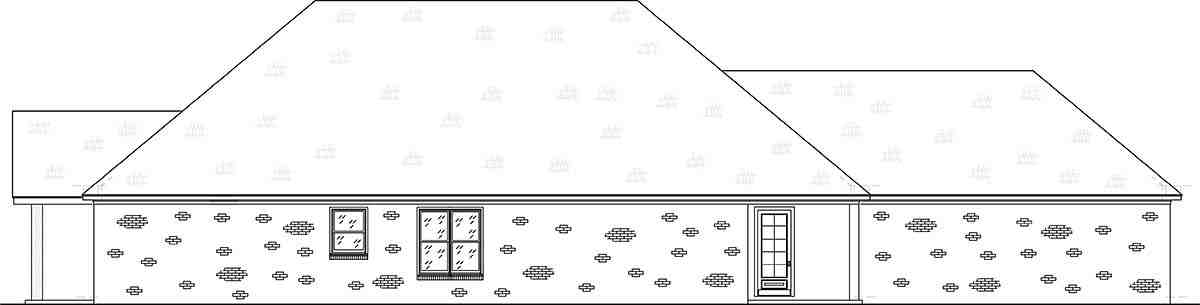 Craftsman, Traditional House Plan 74656 with 4 Beds, 3 Baths, 2 Car Garage Picture 1