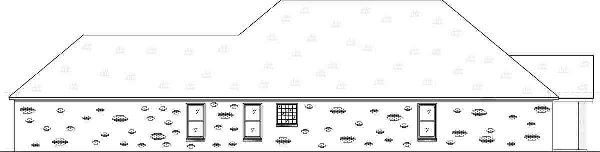 Craftsman, Traditional House Plan 74656 with 4 Beds, 3 Baths, 2 Car Garage Picture 2