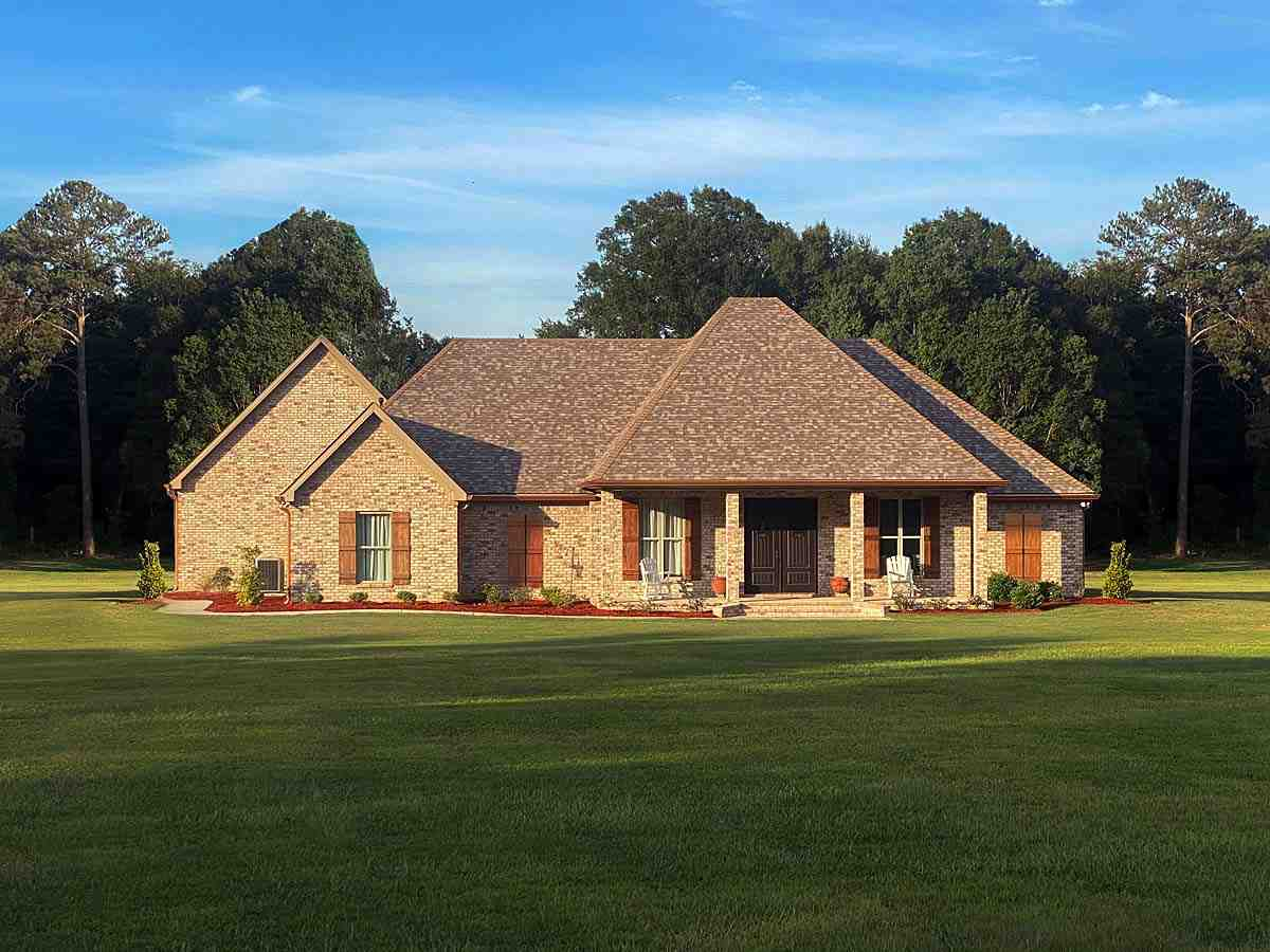 French Country, Traditional House Plan 74662 with 3 Beds, 3 Baths, 3 Car Garage Elevation
