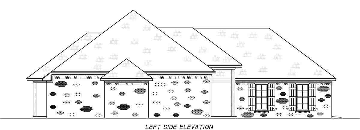 French Country, Traditional House Plan 74665 with 3 Beds, 2 Baths, 2 Car Garage Picture 2