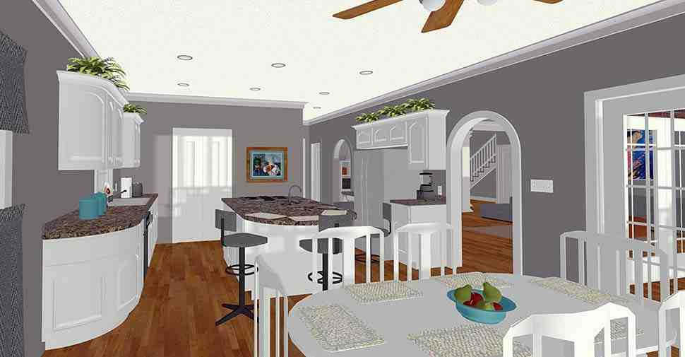 Craftsman, Traditional House Plan 74867 with 4 Beds, 5 Baths, 3 Car Garage Picture 3