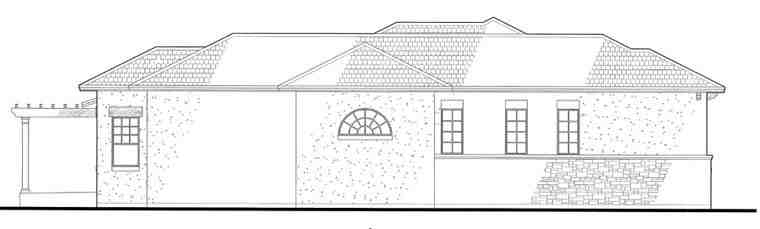 Italian, Mediterranean, Traditional House Plan 75123 with 3 Beds, 3 Baths, 3 Car Garage Picture 1