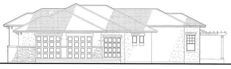 Italian, Mediterranean, Traditional House Plan 75123 with 3 Beds, 3 Baths, 3 Car Garage Picture 2