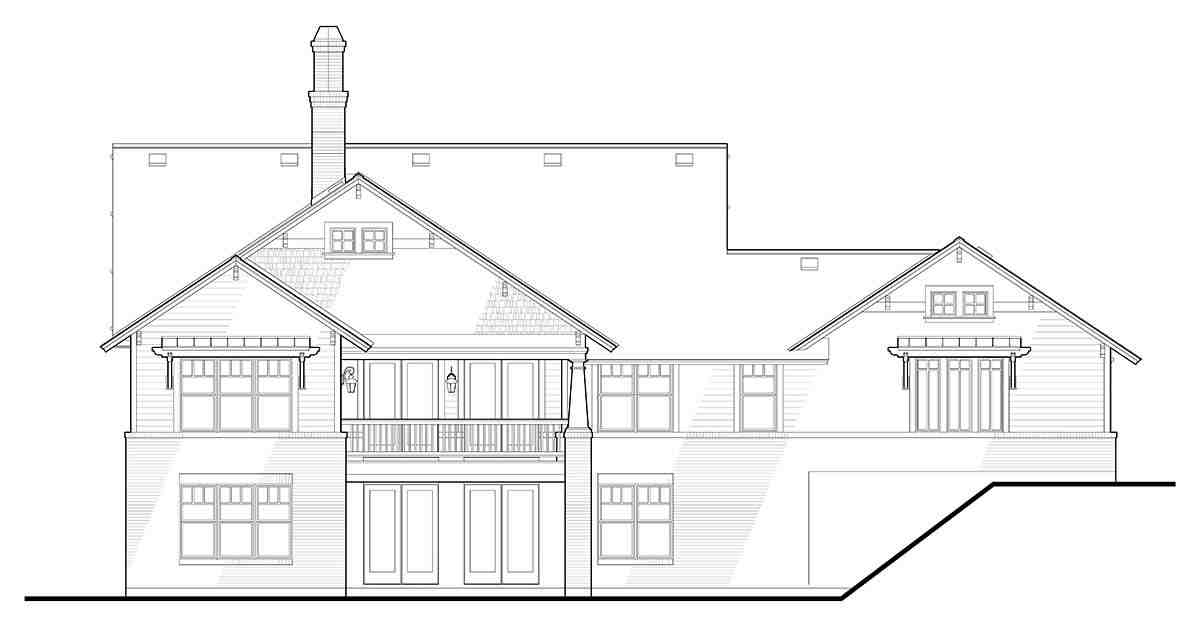 Bungalow, Cottage, Craftsman House Plan 75137 with 3 Beds, 2 Baths, 2 Car Garage Picture 7