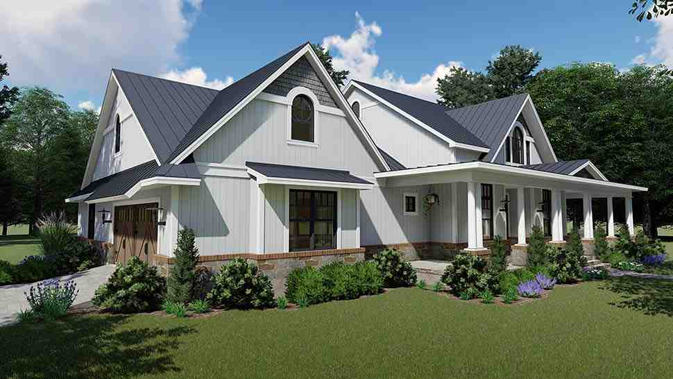 Country, Farmhouse, Southern House Plan 75154 with 3 Beds, 3 Baths, 2 Car Garage Picture 4