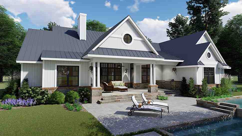 Country, Farmhouse, Southern House Plan 75154 with 3 Beds, 3 Baths, 2 Car Garage Picture 8
