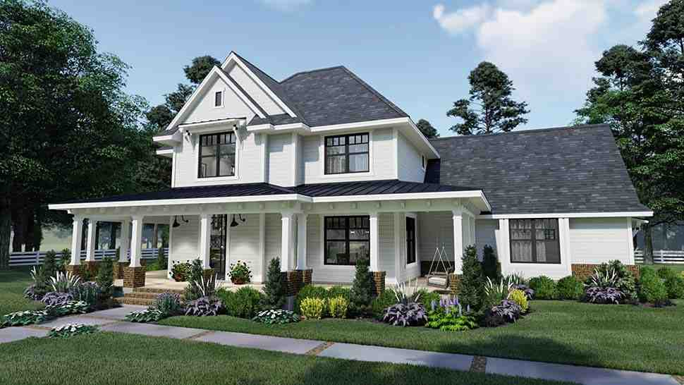 Country, Farmhouse, Southern House Plan 75158 with 3 Beds, 3 Baths, 2 Car Garage Picture 6