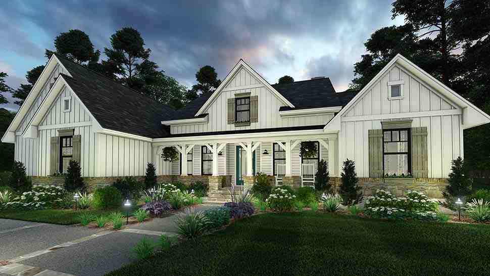 Cottage, Farmhouse, Southern House Plan 75160 with 4 Beds, 3 Baths, 2 Car Garage Picture 1