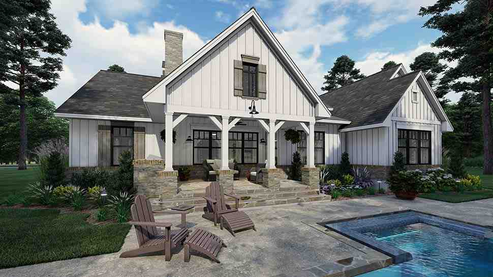 Cottage, Farmhouse, Southern House Plan 75160 with 4 Beds, 3 Baths, 2 Car Garage Picture 4