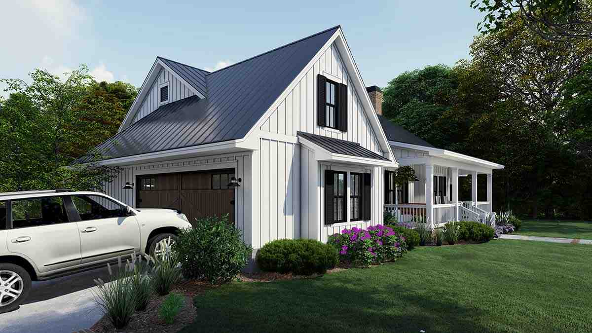 Cottage, Country, Farmhouse House Plan 75163 with 4 Beds, 3 Baths, 2 Car Garage Picture 2