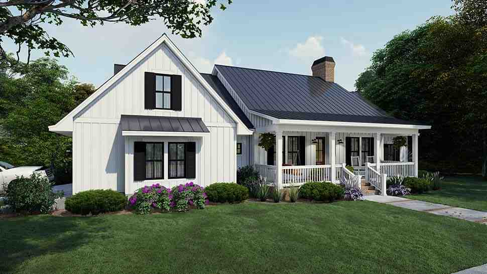 Cottage, Country, Farmhouse House Plan 75163 with 4 Beds, 3 Baths, 2 Car Garage Picture 3