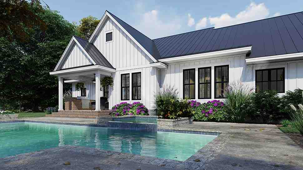 Cottage, Country, Farmhouse House Plan 75163 with 4 Beds, 3 Baths, 2 Car Garage Picture 8