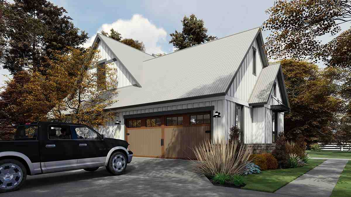 Country, Farmhouse House Plan 75165 with 3 Beds, 3 Baths, 2 Car Garage Picture 2