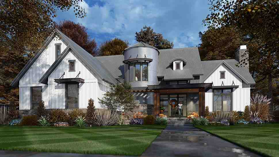 Country, Farmhouse House Plan 75165 with 3 Beds, 3 Baths, 2 Car Garage Picture 3