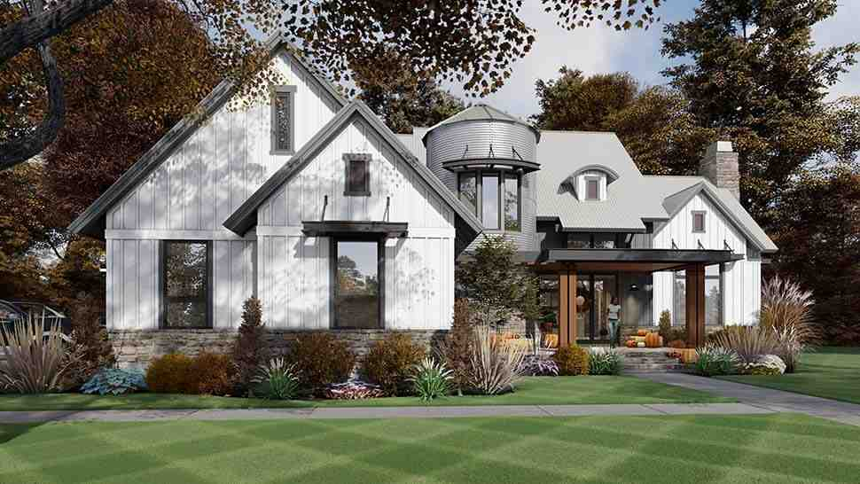 Country, Farmhouse House Plan 75165 with 3 Beds, 3 Baths, 2 Car Garage Picture 4