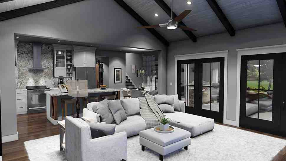 Cottage, Farmhouse, Ranch, Southern House Plan 75167 with 3 Beds, 3 Baths, 2 Car Garage Picture 12