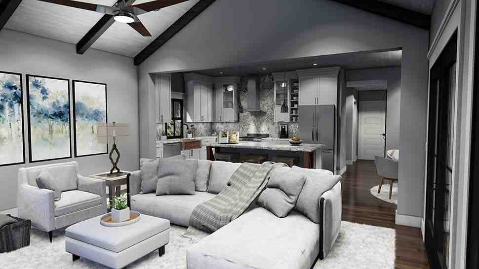 Cottage, Farmhouse, Ranch, Southern House Plan 75167 with 3 Beds, 3 Baths, 2 Car Garage Picture 14