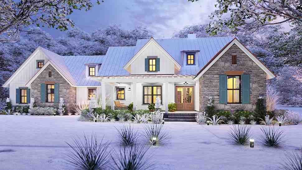 Cottage, Farmhouse, Ranch, Southern House Plan 75167 with 3 Beds, 3 Baths, 2 Car Garage Picture 3