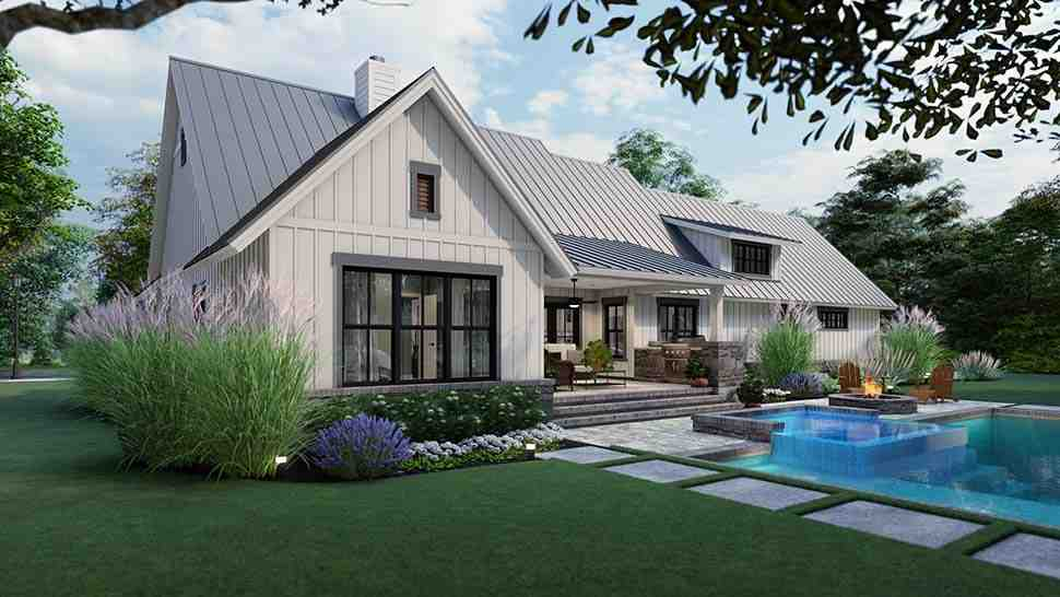 Cottage, Farmhouse, Ranch, Southern House Plan 75167 with 3 Beds, 3 Baths, 2 Car Garage Picture 4