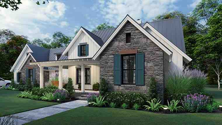 Cottage, Farmhouse, Ranch, Southern House Plan 75167 with 3 Beds, 3 Baths, 2 Car Garage Picture 5