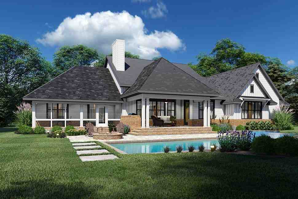 Country, Farmhouse, Ranch, Southern House Plan 75168 with 4 Beds, 4 Baths, 2 Car Garage Picture 4