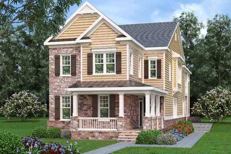 Country, Traditional House Plan 75311 with 4 Beds, 4 Baths, 2 Car Garage Elevation
