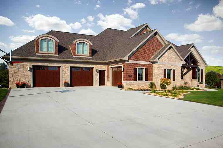 Traditional House Plan 75416 with 4 Beds, 4 Baths, 3 Car Garage Elevation