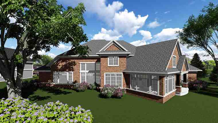 Traditional House Plan 75416 with 4 Beds, 4 Baths, 3 Car Garage Picture 2
