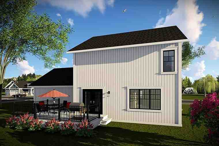 Country, Farmhouse, Southern House Plan 75425 with 3 Beds, 3 Baths, 2 Car Garage Rear Elevation
