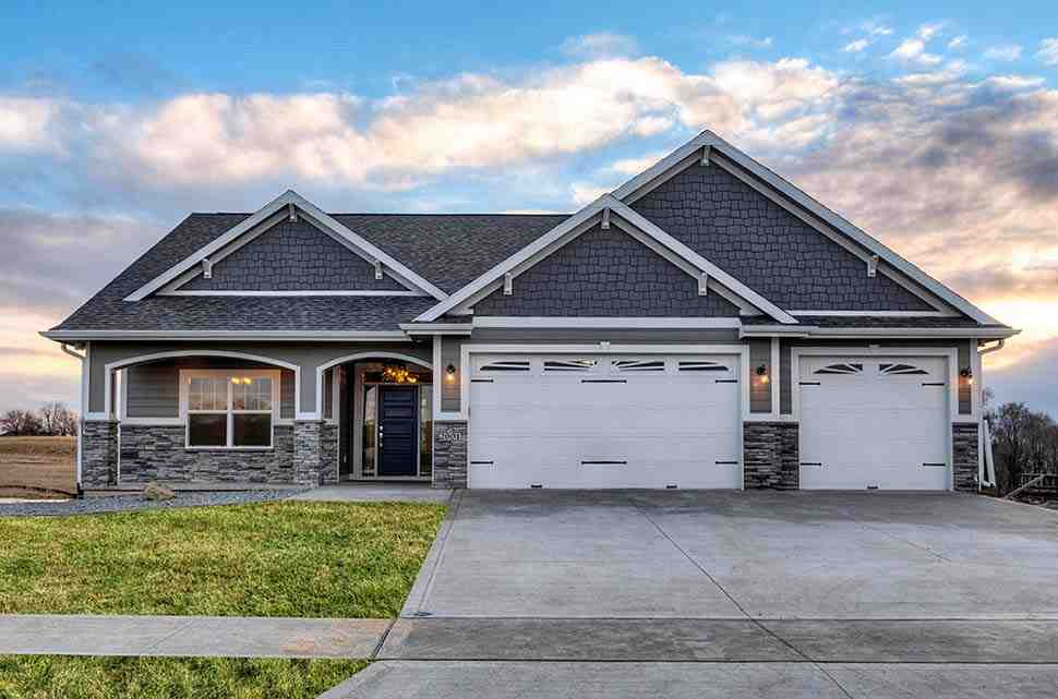 Craftsman, Traditional House Plan 75458 with 3 Beds, 2 Baths, 3 Car Garage Elevation