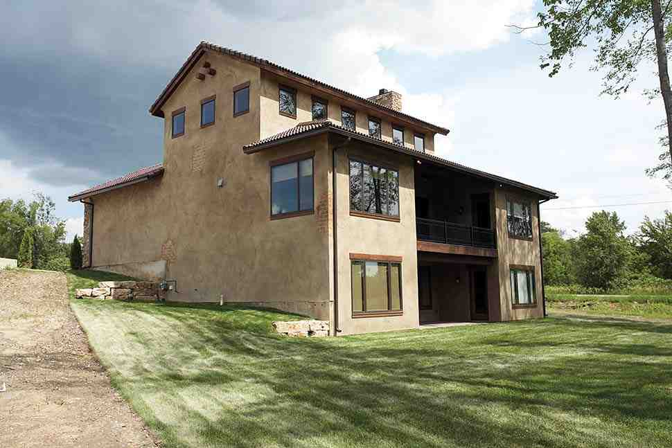 Southwest, Tuscan House Plan 75471 with 4 Beds, 3 Baths, 3 Car Garage Picture 2
