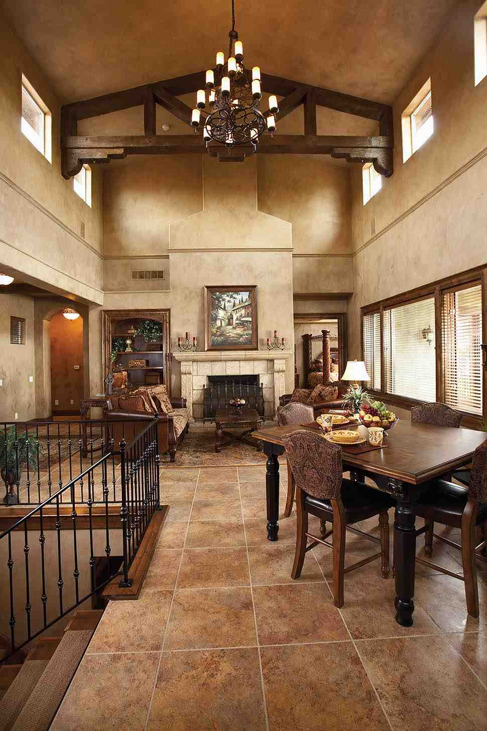 Southwest, Tuscan House Plan 75471 with 4 Beds, 3 Baths, 3 Car Garage Picture 3
