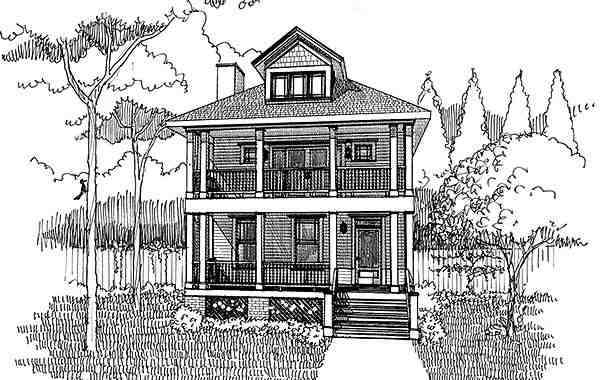 Colonial, Southern House Plan 75501 with 3 Beds, 3 Baths Picture 3